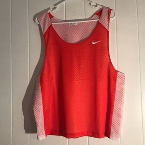 Nike traditional orange mesh tank top